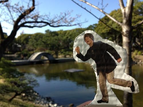 縮景園 池