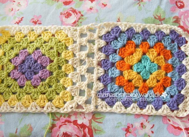 Crochet tutoriel: rejoindre carrés granny 11