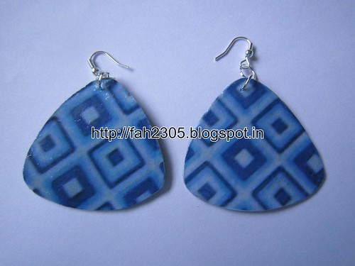 Handmade Jewelry - Card Paper Earrings (4) by fah2305