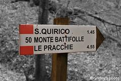 Cartello sentiero cai S.Quirico
