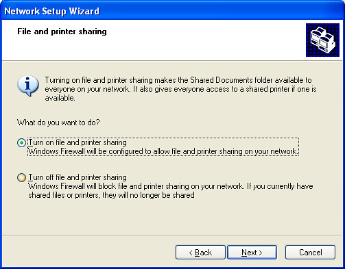Network Setup Wizard