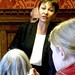 Caroline Lucas MP at the Parliamentary lobby to save the NHS on March 26, 2013