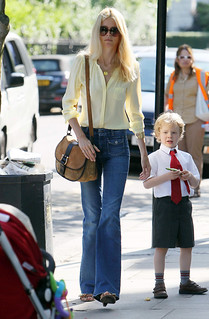 Claudia Schiffer Flared Jeans Celebrity Style Women's Fashion