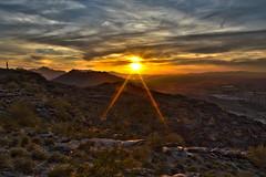 Sunset at South Mountain, Phoenix, Arizona