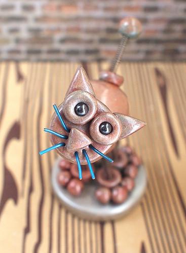 Robot Cat Mack  by HerArtSheLoves
