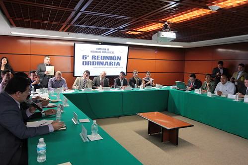 El día 21 de septiembre del 2016 se llevó a cabo en la H. Cámara de Diputados la sexta reunión ordinaria de la Comisión de Recursos Hidráulicos.
