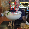 Margarita bigger than my head! And Ed's head at La Casita Gastown in Vancouver, BC