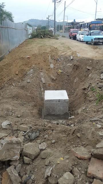 Aguas del Chuno realiza instalación de cajetín en el MIES