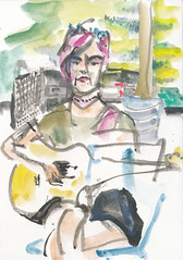Busker at the farmers market
