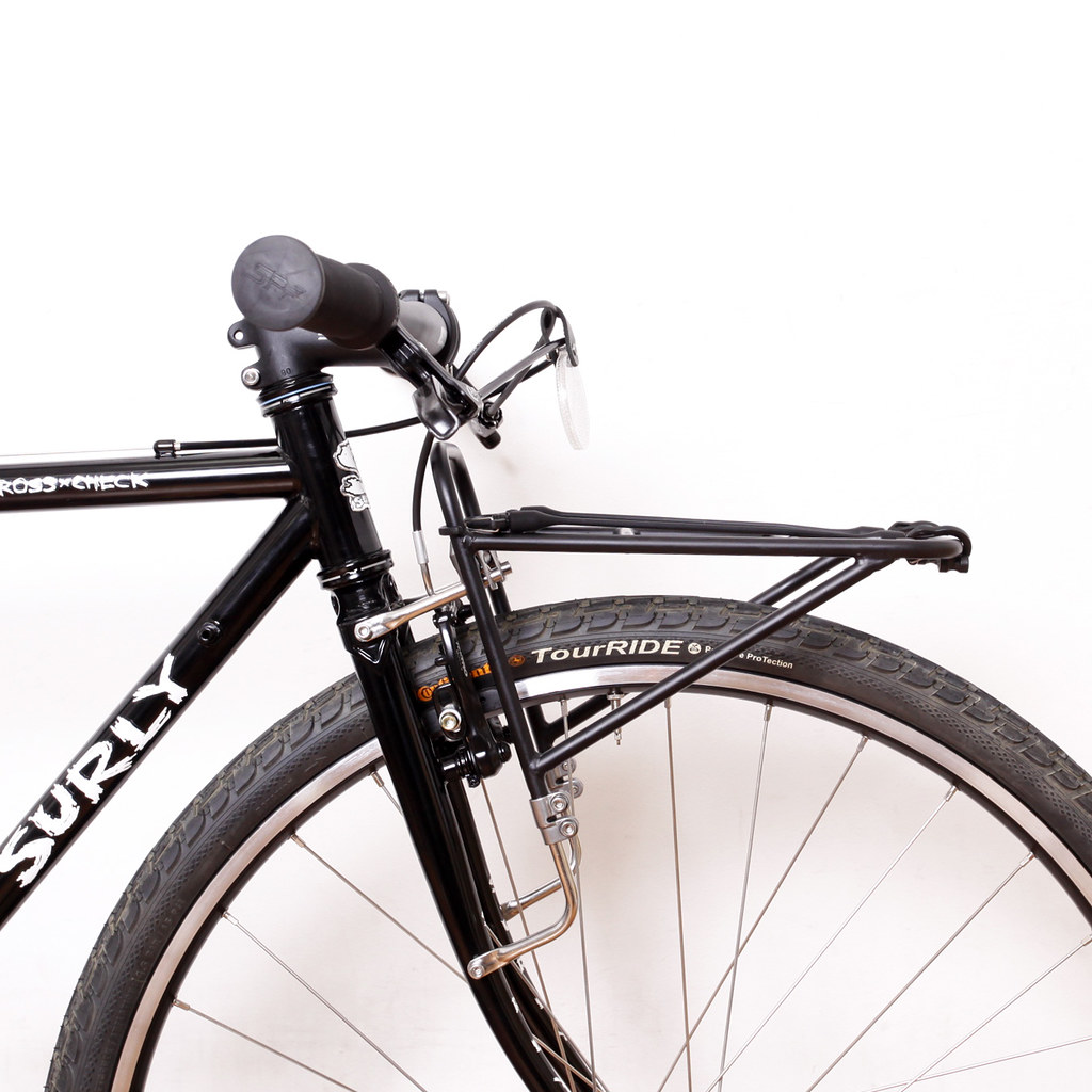 Surly Cross-Check Single Speed With Front & Rear Rack : Above Bike ...