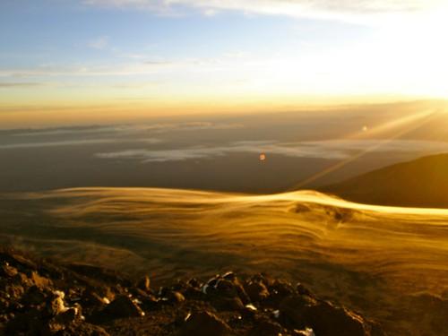 kilimanjaro clouds sunrise tanzania kibo