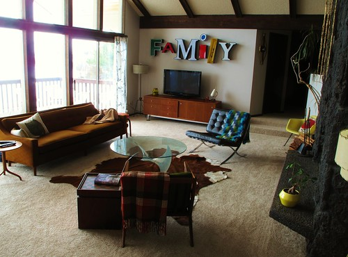 Natural light in our Mid century modern living room
