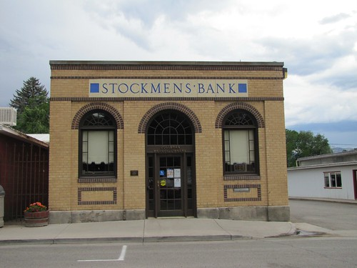brick architecture colorado bank smalltown collbran
