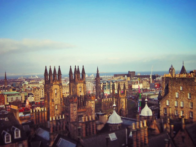 Rooftops of Edinburgh from Camera Obscura