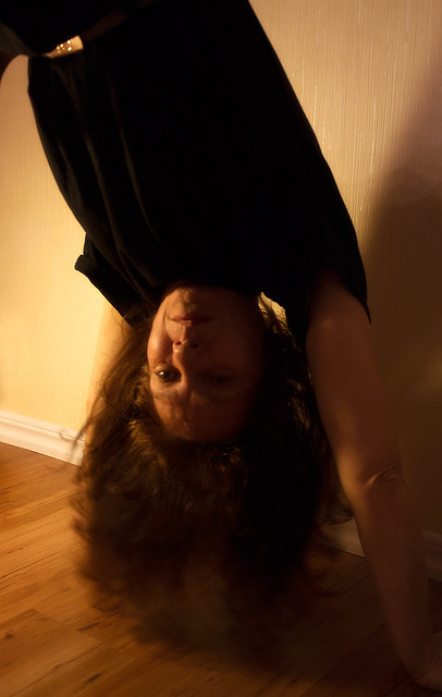 4) Doing a headstand