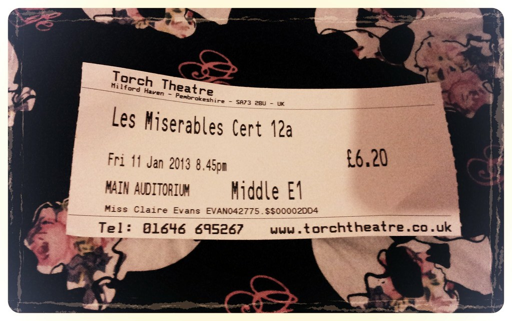 Les Miserables Cinema Ticket