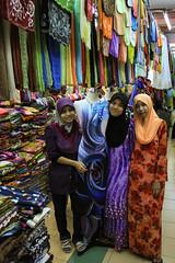 Kota Bharu Pasar Siti Khadijah Batik stall