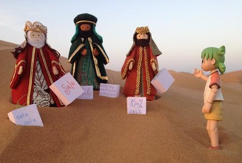 desert nativity shoppin yotsuba carrierbags thethreekings jeangreenhowe the365toyproject