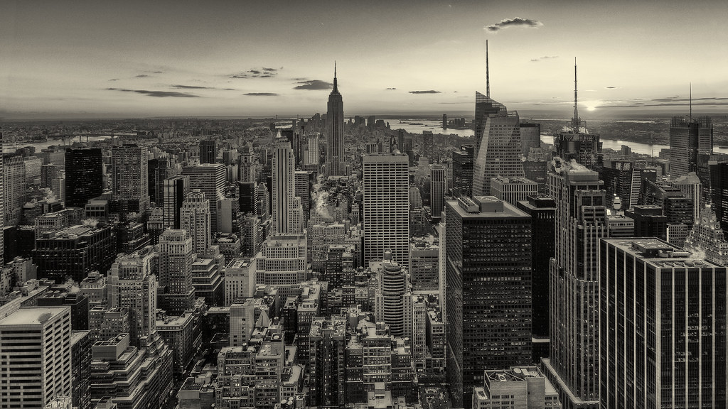New York - Grand Panorama - Sepia