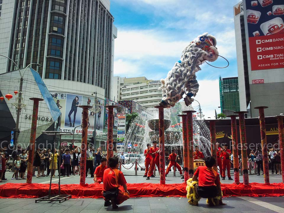 Lion Dance Captured using S2 @ Pavilion, KL, Malaysia