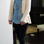 chambray shirt layers