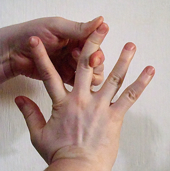 Hand Sign With Ring Finger Bent