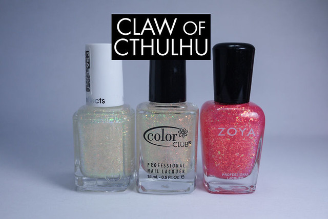 Essie Shine of the Times vs. Color Club Snow-Flakes vs. Zoya Chloe Comparison