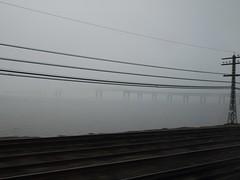 日, 2013-01-13 11:40 - 霧のハドソン川 Tarrytown近く