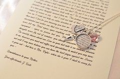 John Keats Love Letter Charm Necklace by Ciarrai Studios