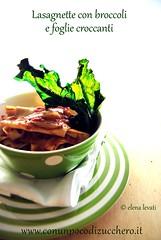 Lasagnette con i broccoli e le sue foglie