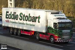 Scania G400 4x2 Tractor - PN60 YGM - Scarlett - Green & Red - Eddie Stobart - M1 J10 Luton - Steven Gray - IMG_0533