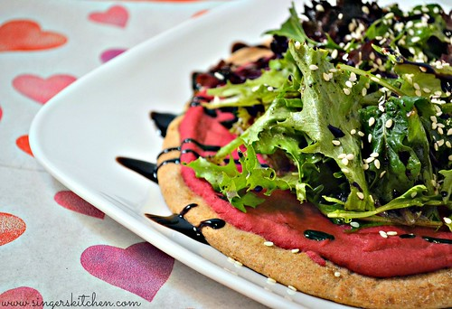 Beet Hummus Pizza