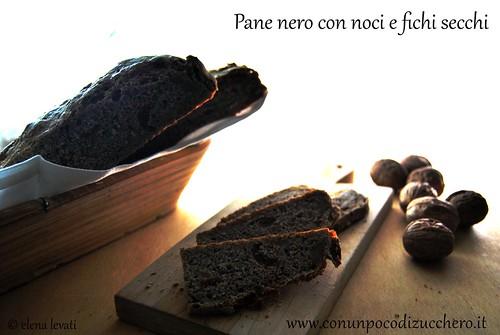 Pane nero con fichi e noci