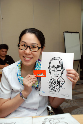caricature live sketching for Khoo Teck Puat Hospital, Nurses' Day - 20