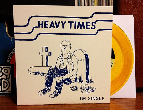 "Heavy Times - I'm Single 7"" - Gold Vinyl (/200) by Tim PopKid"