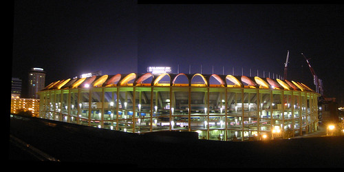 Busch II at night