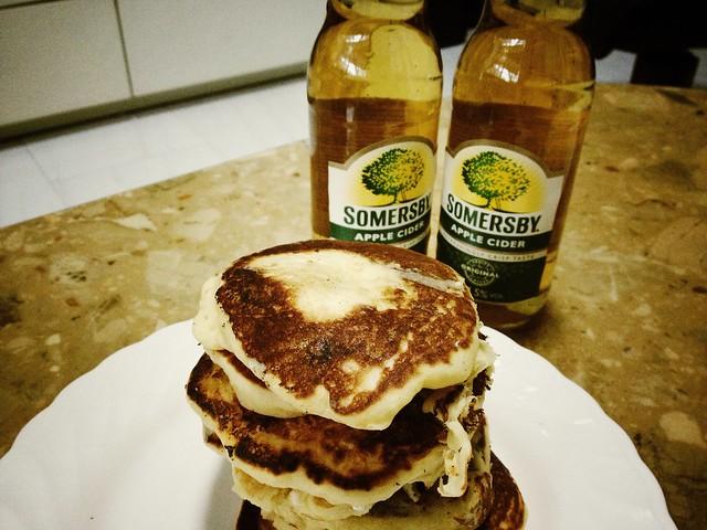 Home-made pancakes