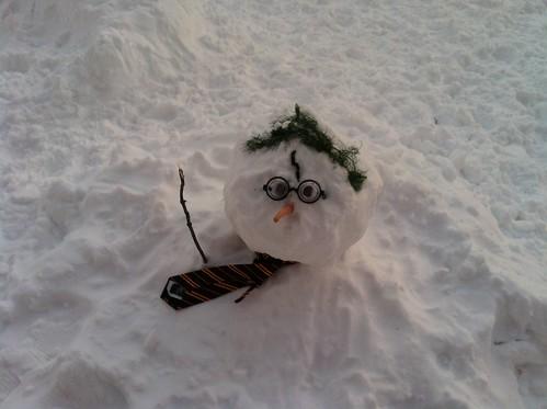 Harry Potter Snowman