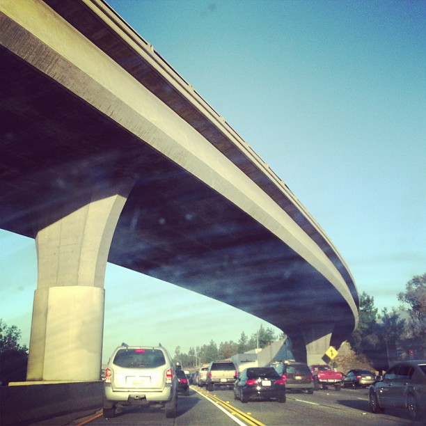 Drove overnight and made it into LA. Now we're battling traffic just like everyone else on day 1.