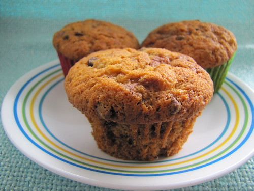Loaded Butterfinger Banana Muffins