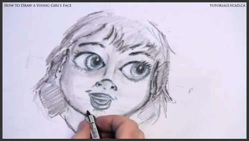 learn how to draw a young girls face 022