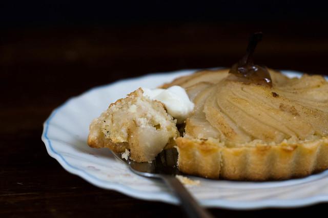 frangipane pear tarts