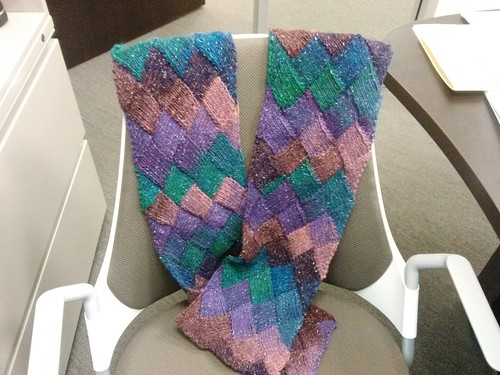 My Entrelac Scarf by she_knits_at_traffic_lights