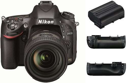 Nikon D600, EN-EL15, MB-D14 -- Battery life