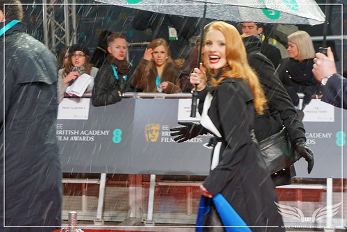 The Establishing Shot: EE BAFTAs RED CARPET ALWAYS CLASSY JESSICA CHASTAIN GIVES US A SMILE by Craig Grobler