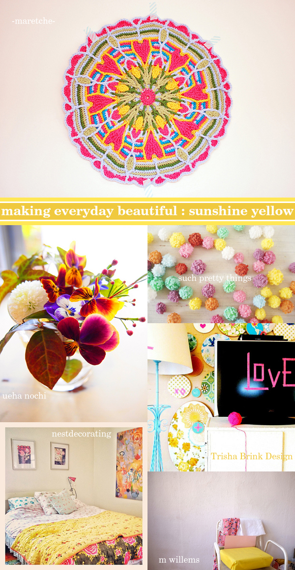 making everyday beautiful : sunshine yellow | Emma Lamb