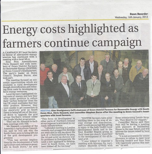 Chris Hazzard MLA meets Lecale farmers to explore solutions to energy costs 16th Jan 2013 by CadoganEnright
