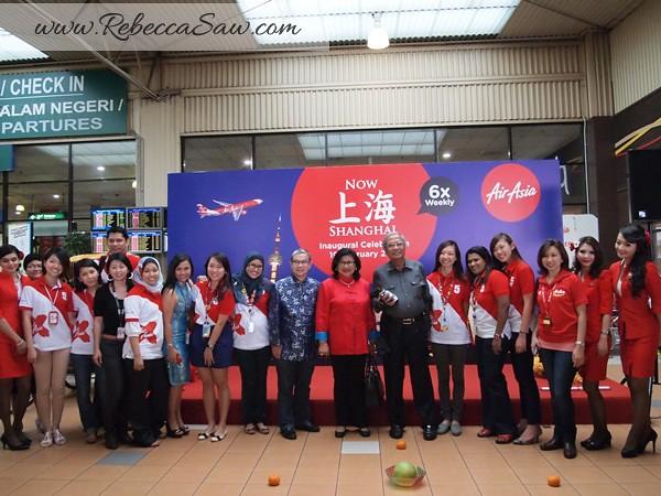 Air asia x - shanghai inaugural flight - lcct