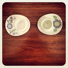 Vintage Figgjo Flint egg cups.