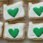 """I Heart Oregon"" Sticker Sugar Cookies"